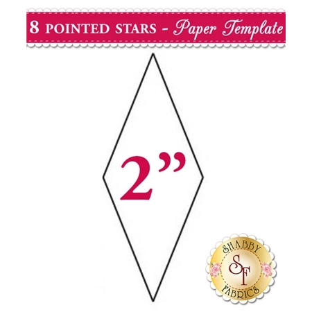 2 inch 8 Point Star Papers - 50 count