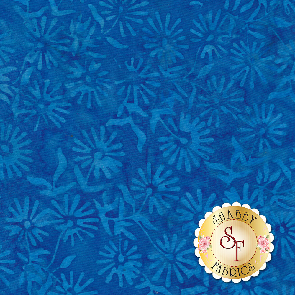 Floragraphix Batiks 4 3-GBD-2 Blue by In The Beginning Fabrics available at Shabby Fabrics