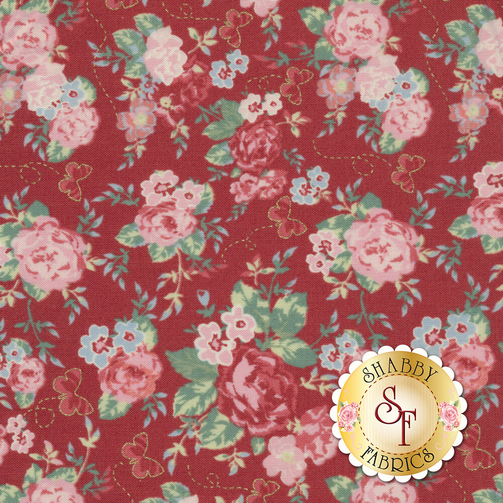 Woodland Rose 31800-30 for Lecien Fabrics