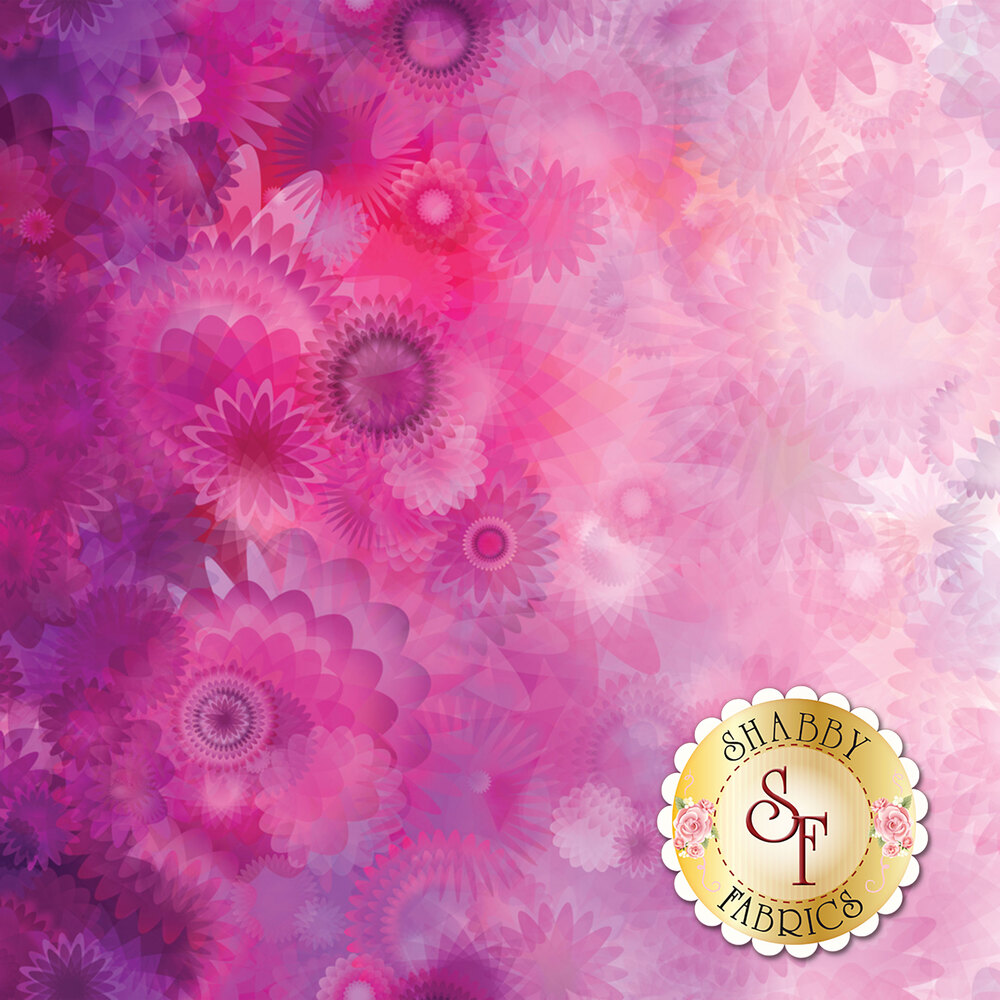 Gradients 33361-11D Blooms Pink for Moda