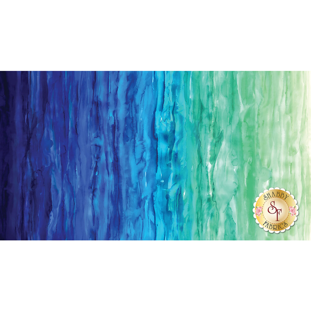 Gradients 33363-12D Watercolor Waves Light Blue for Moda
