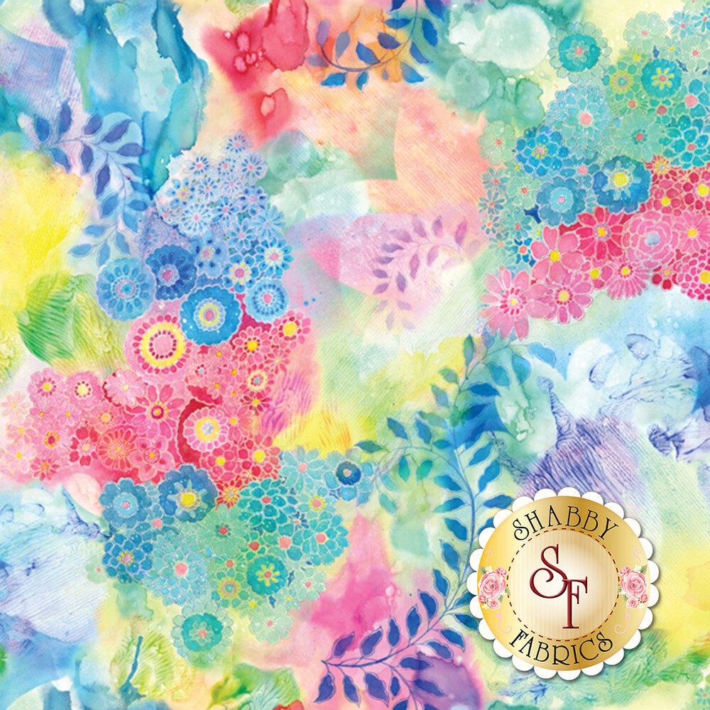 Gradients 33366-11D Watercolor Garden Multi for Moda