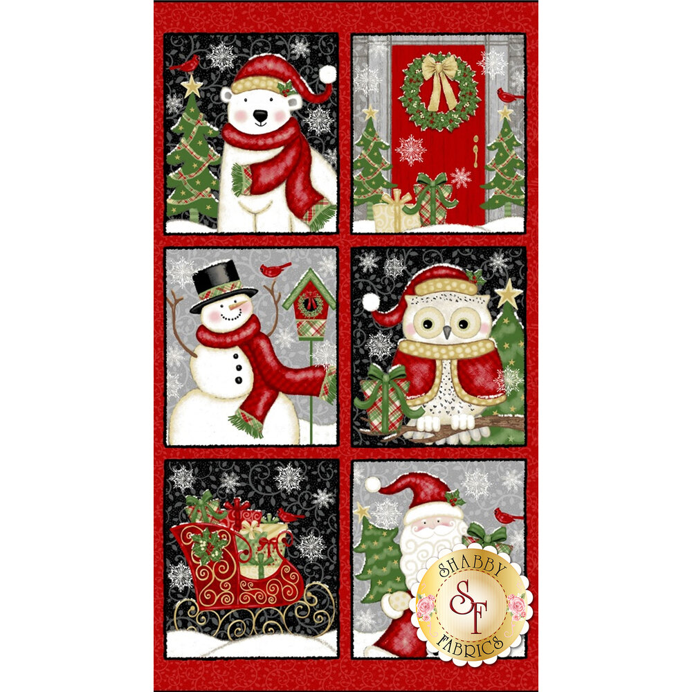 Winter Greetings 4211-88 Panel for Studio E Fabrics