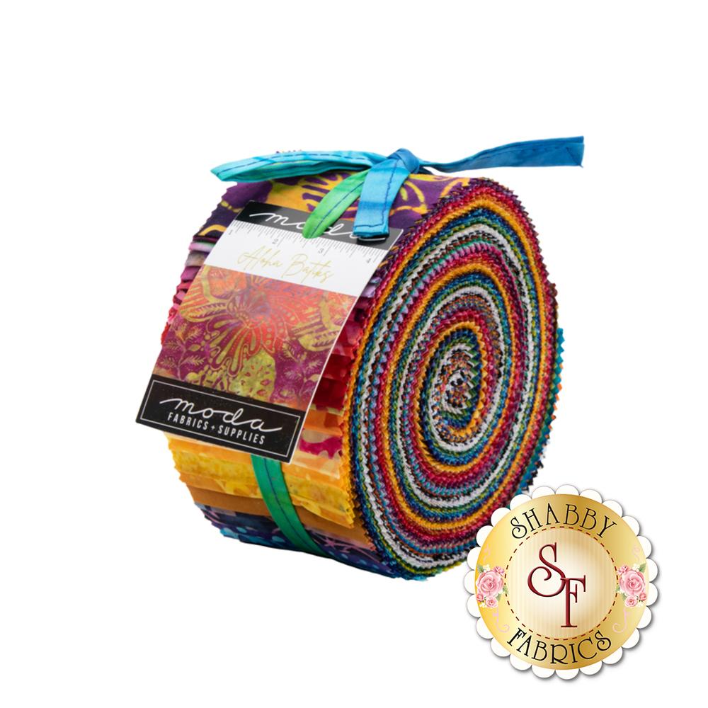 The Aloha Batiks Jelly Roll pack from Moda Fabrics   Shabby Fabrics