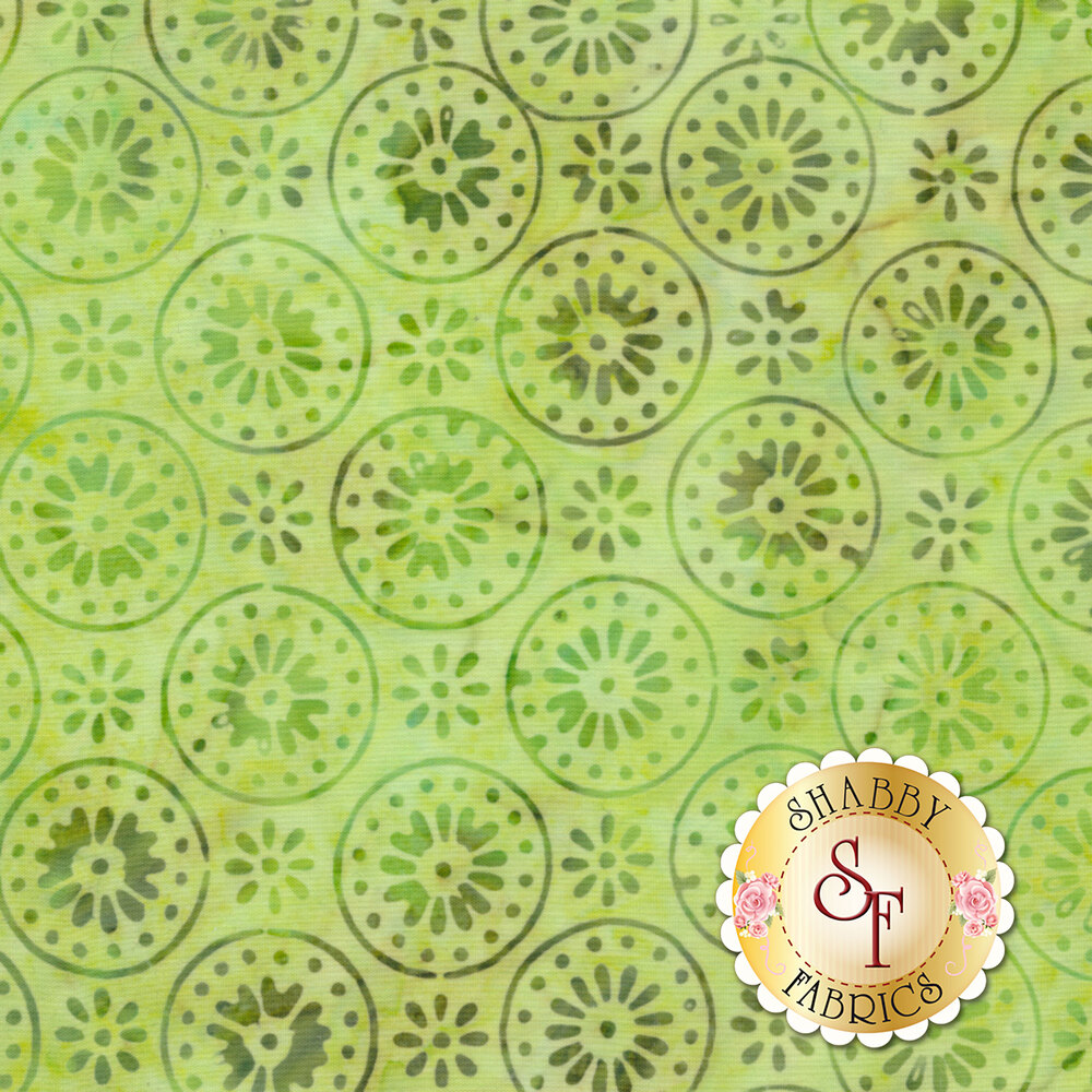 Floragraphix Batiks 4 5-GBD-2 Green by In The Beginning Fabrics available at Shabby Fabrics