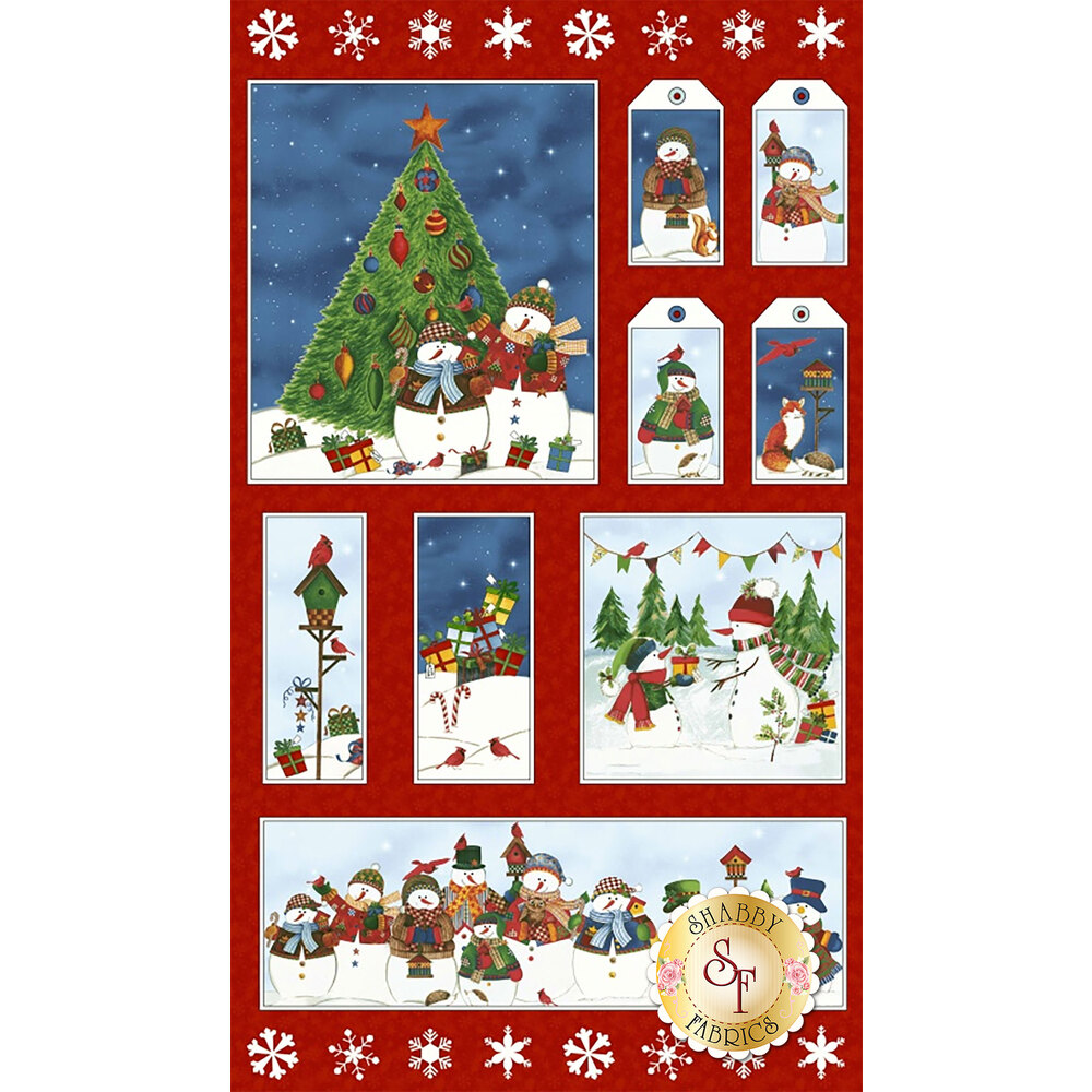 Winter Wishes 50255P-X Multi Panel by Windham Fabrics from Whistler Studio
