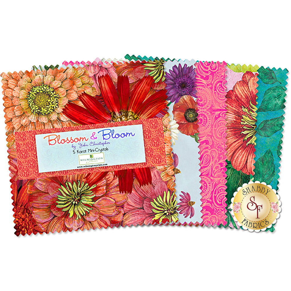 "Blossom & Bloom 5"" Squares by Wilmington Prints"