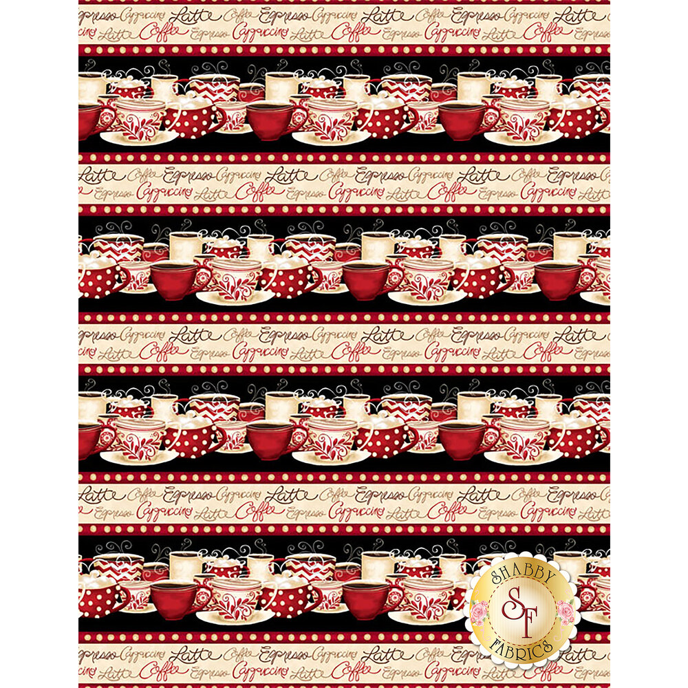 Morning Coffee 56053-193 Repeating Stripe Multi by Wilmington Prints