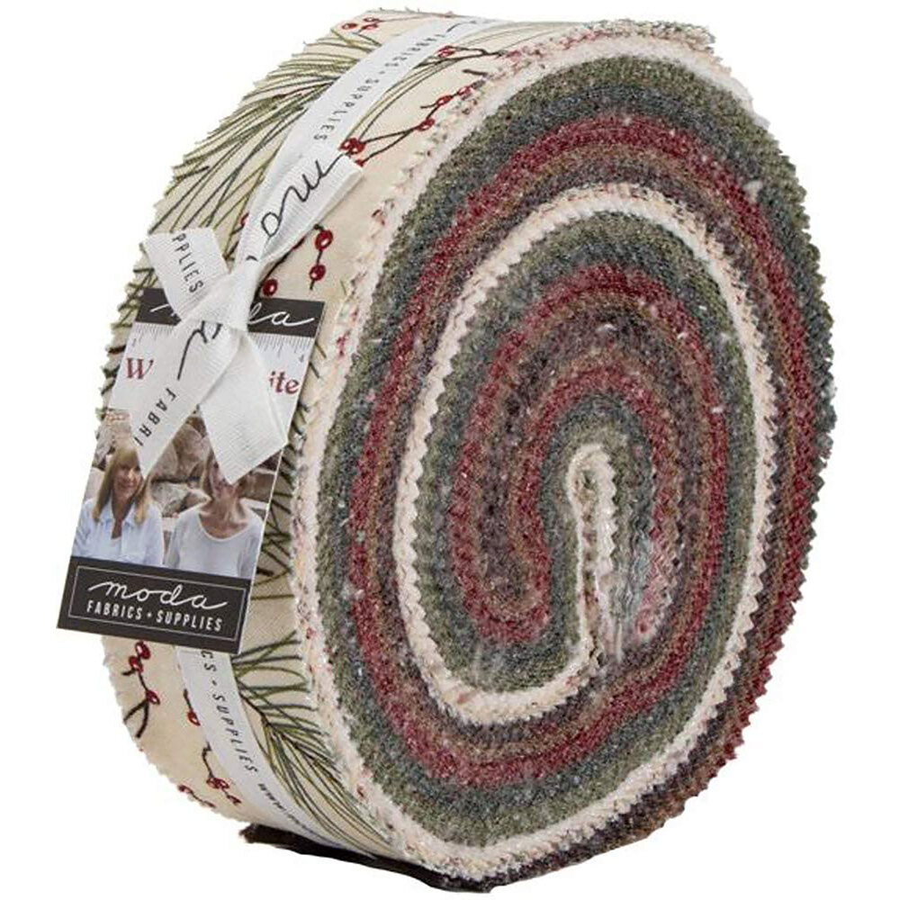 The Honey Bun precut for the Winter White collection | Shabby Fabrics