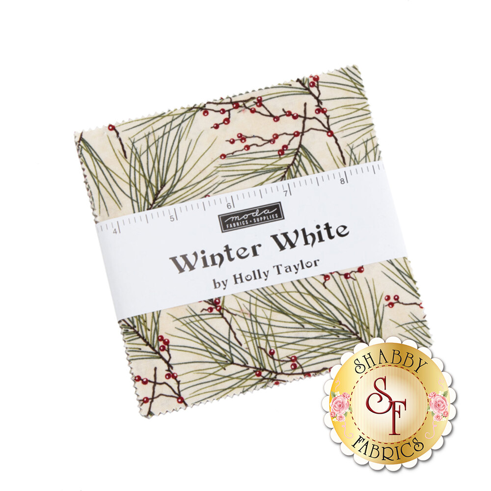 The Charm Pack precut for the Winter White collection   Shabby Fabrics
