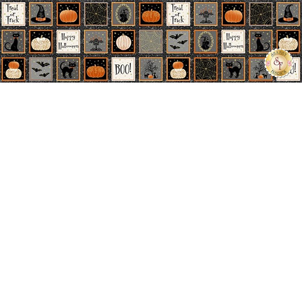 Midnight Spell 6947M-39 Small Blocks Black by Henry Glass Fabrics