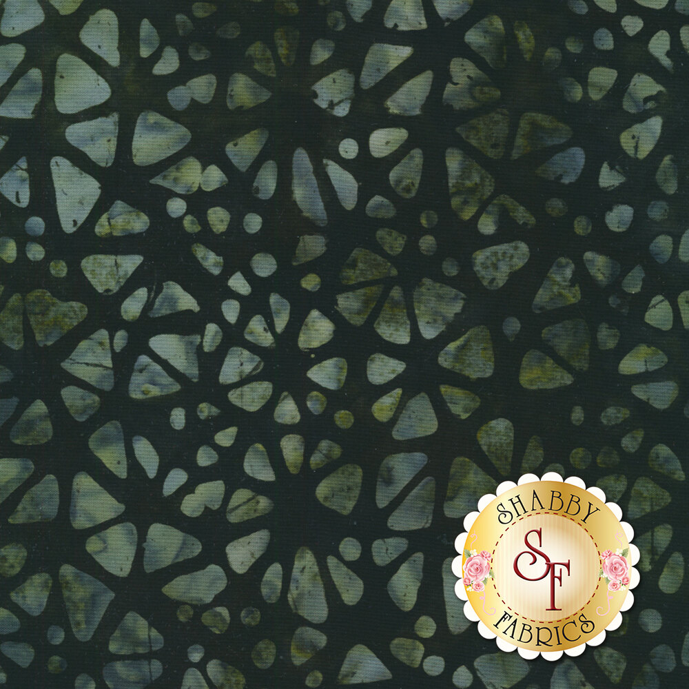 Floragraphix Batiks 4 7-GBD-4 Charcoal by In The Beginning Fabrics available at Shabby Fabrics