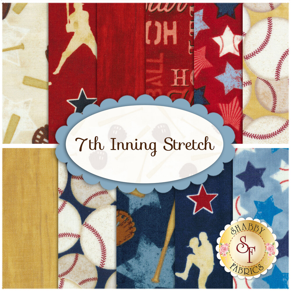 7th Inning Stretch 11 FQ Set from Wilmington Prints