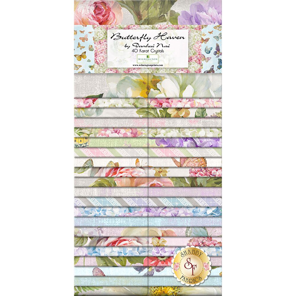 Butterfly Haven Precut Strips from Wilmington Prints