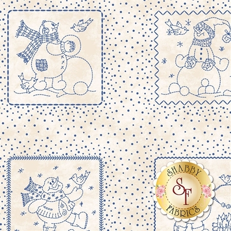 Roly-Poly Snowmen 8411-E by Maywood Studio Fabrics