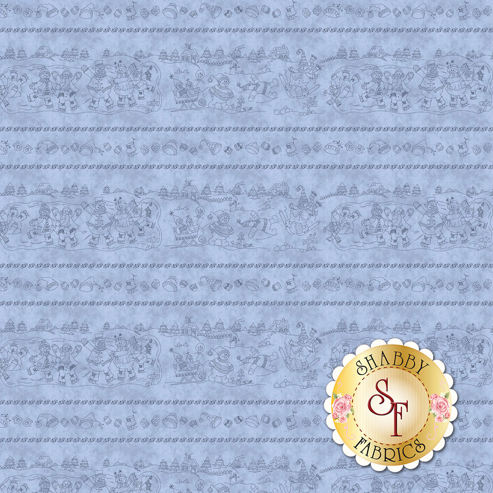 Roly-Poly Snowmen 8412-B for Maywood Studio Fabrics