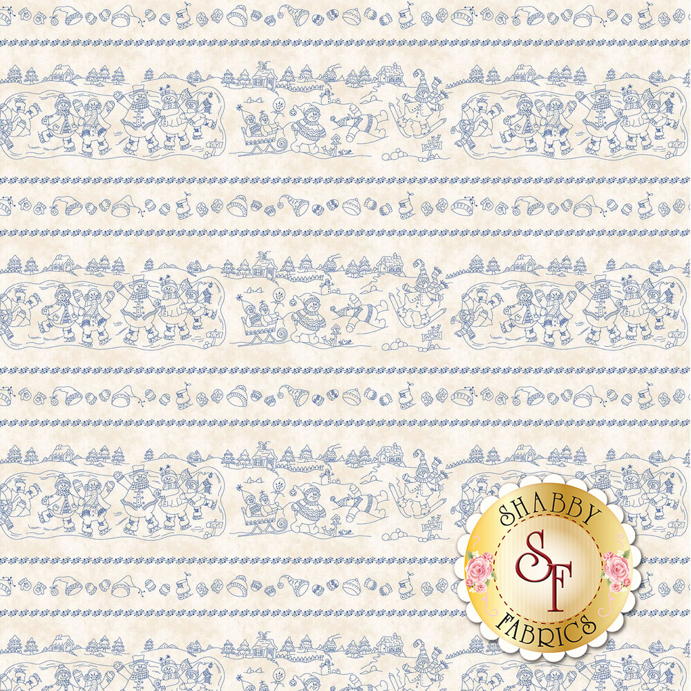 Roly-Poly Snowmen 8412-E for Maywood Studio Fabrics