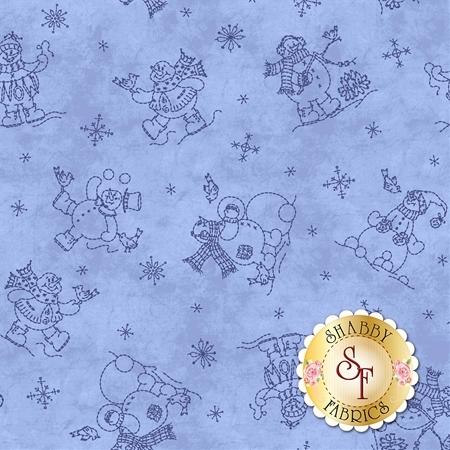 Roly-Poly Snowmen 8413-B by Maywood Studio Fabrics