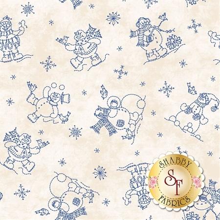 Roly-Poly Snowmen 8413-E by Maywood Studio Fabrics