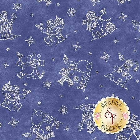 Roly-Poly Snowmen 8413-N by Maywood Studio Fabrics