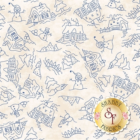 Roly-Poly Snowmen 8414-E by Maywood Studio Fabrics