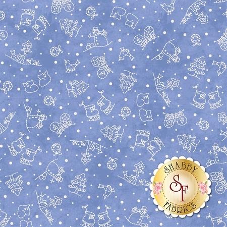 Roly-Poly Snowmen 8415-B by Maywood Studio Fabrics