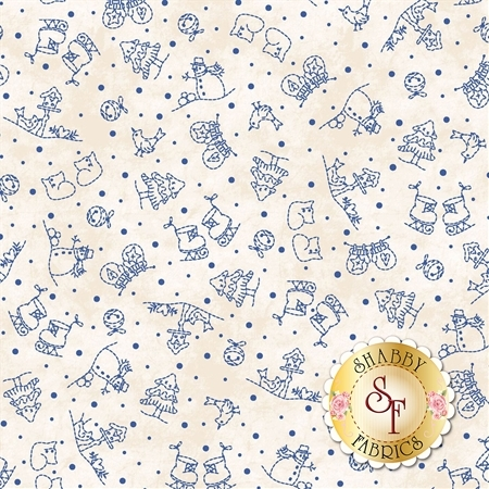 Roly-Poly Snowmen 8415-E by Maywood Studio Fabrics