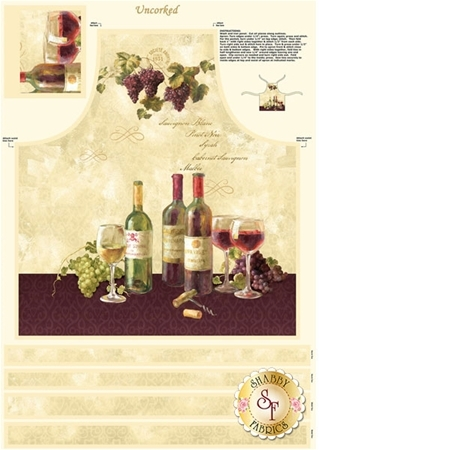 Uncorked  89180-167 Panel by Wilmington Prints