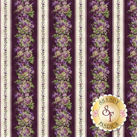 Aubergine 9150-V Aubergine Elegant Stripe for Maywood Studio