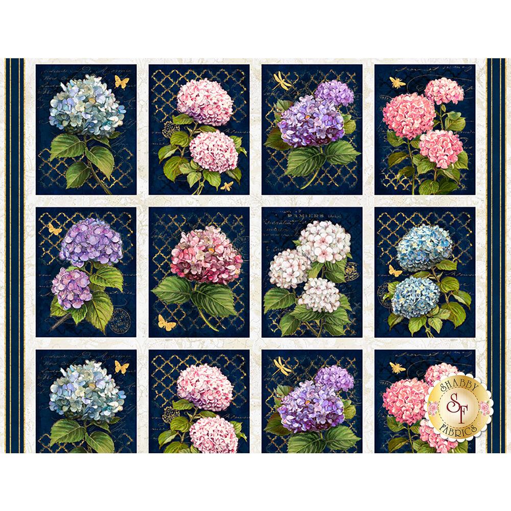 Hydrangea Dreams 96435-143 Craft Panel Multi by Wilmington Prints