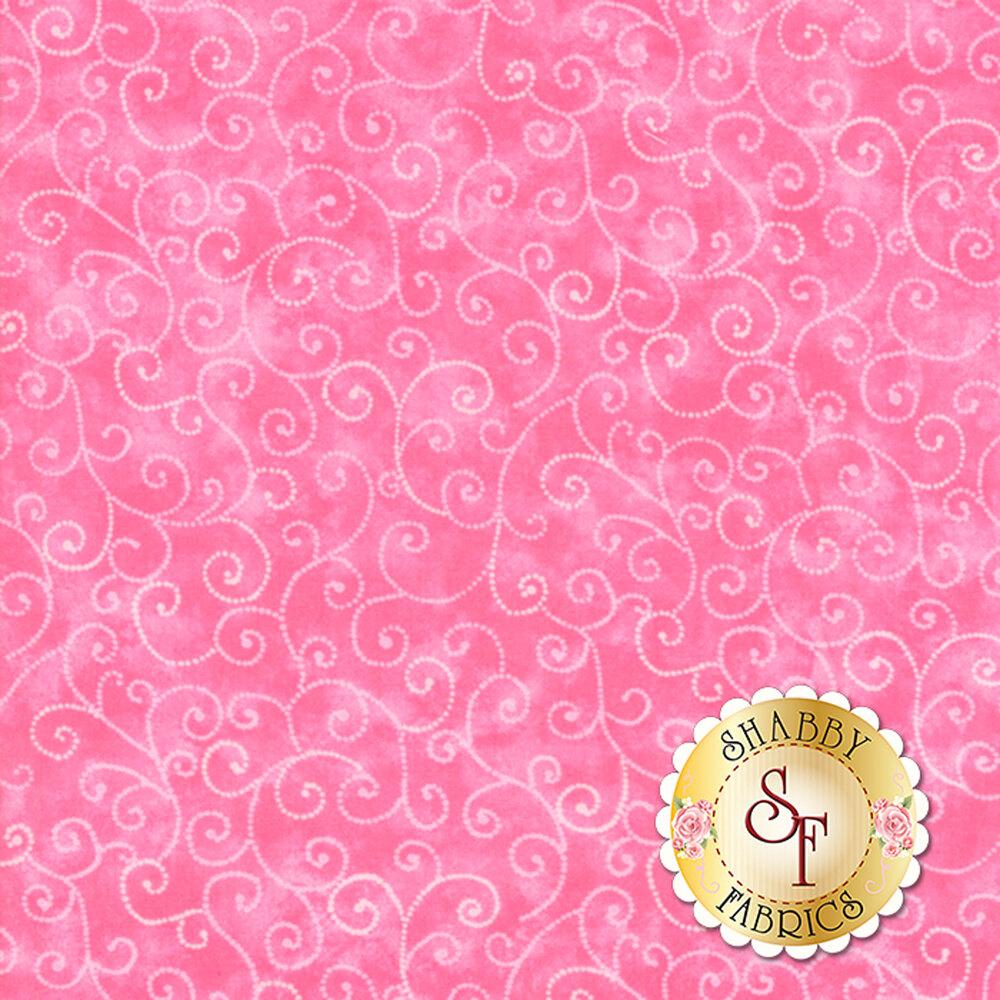 Tonal pink fabric with swirls | Shabby Fabrics