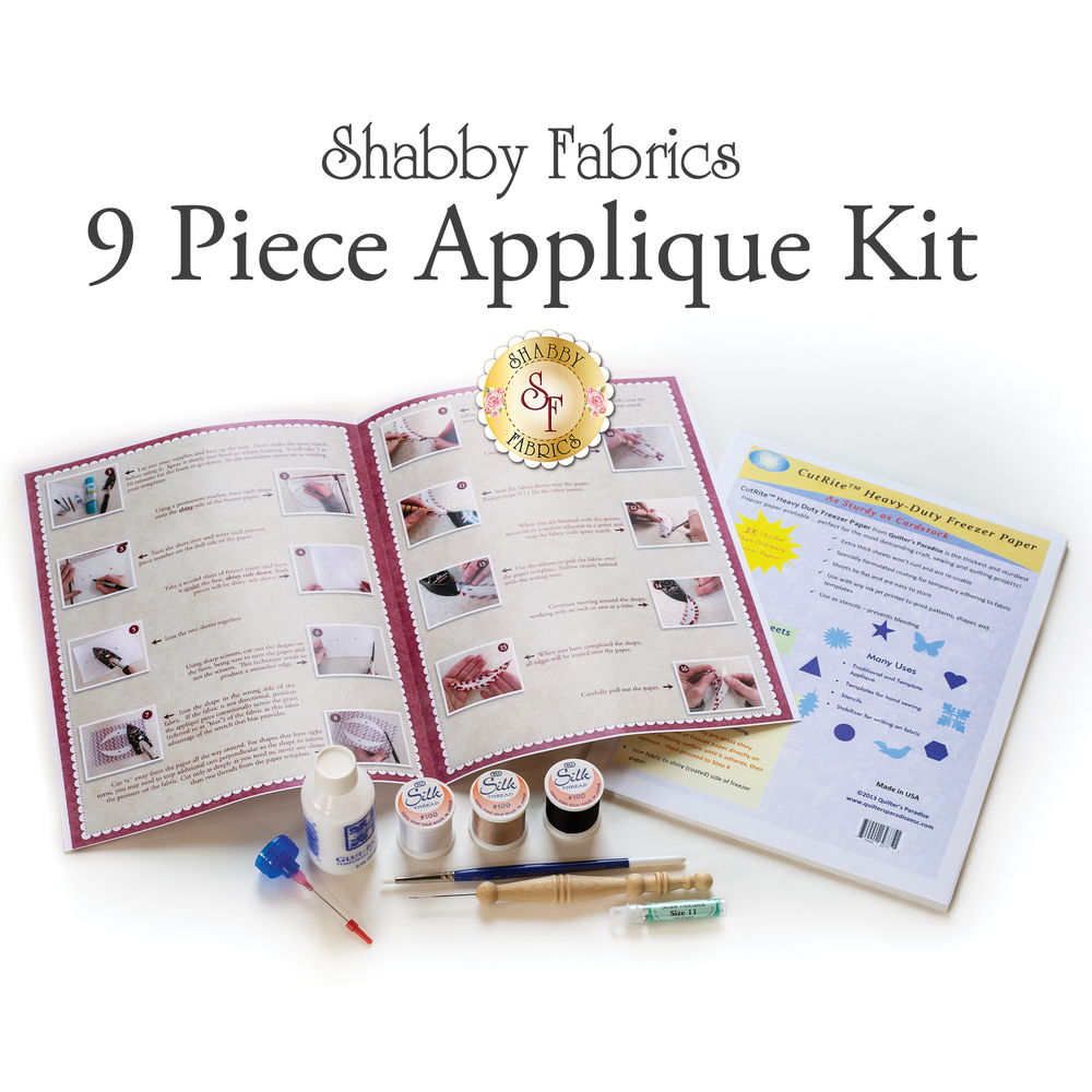 Shabby Fabrics Applique Kit - 9-Piece
