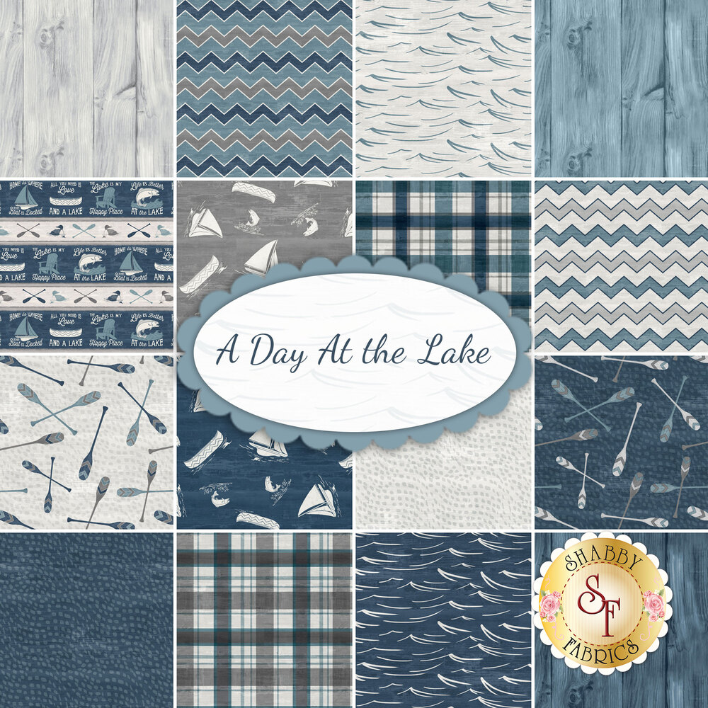 A Day At the Lake  Yardage by Wilmington Prints