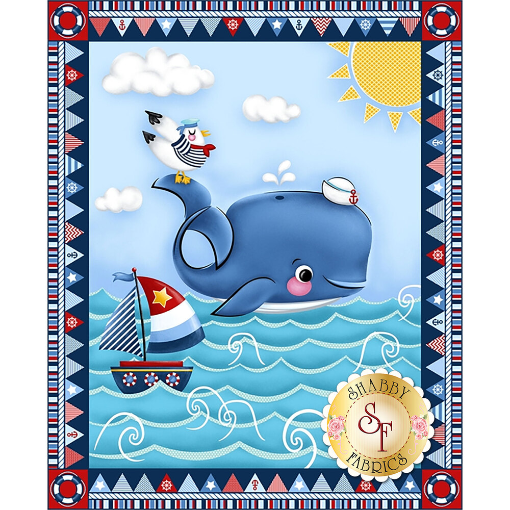 A Whale of a Time 4405P-77 from Studio E Fabrics