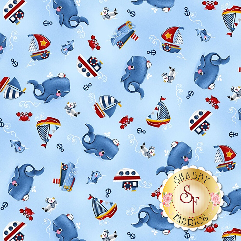A Whale of a Time 4406-77 from Studio E Fabrics