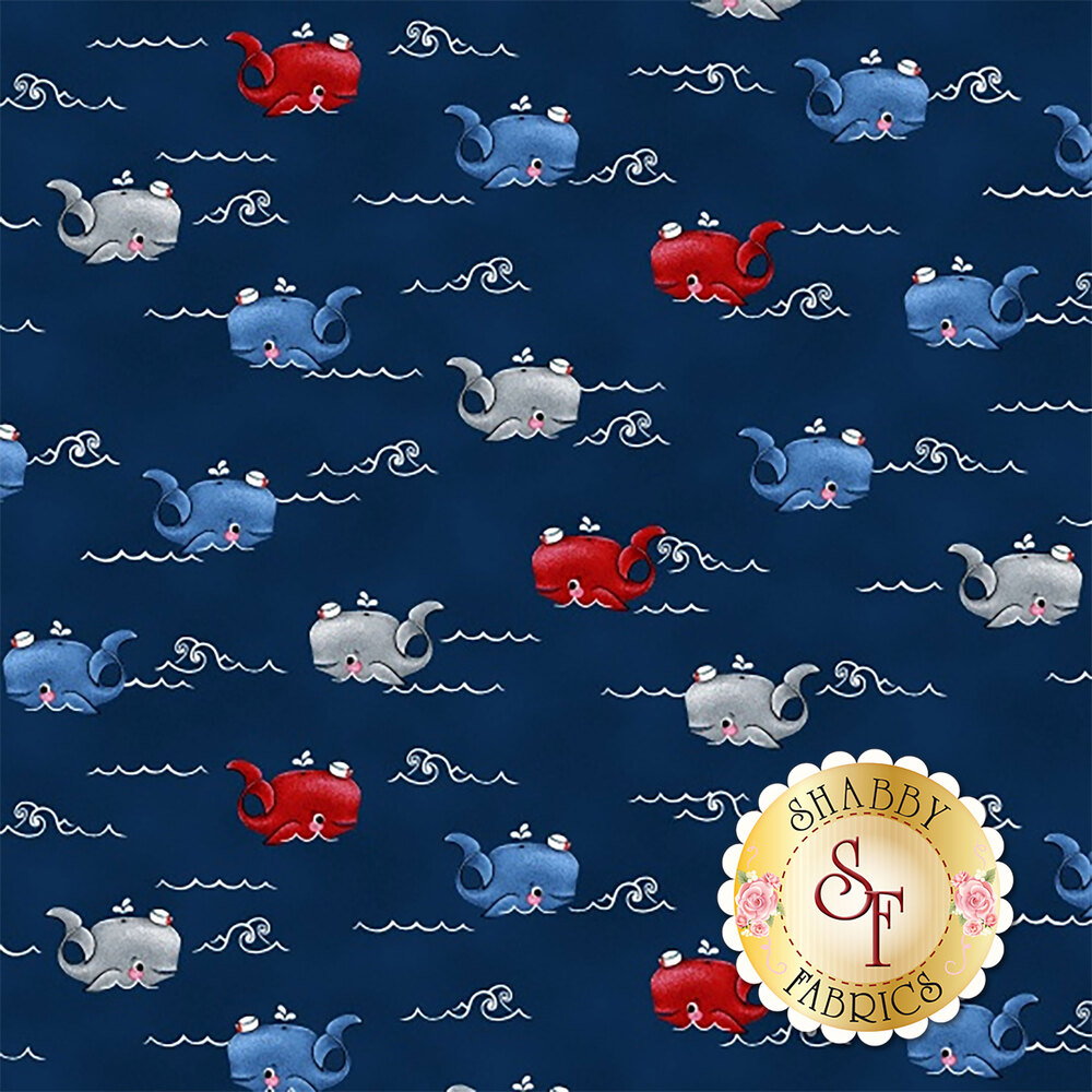 A Whale of a Time 4412-77 from Studio E Fabrics