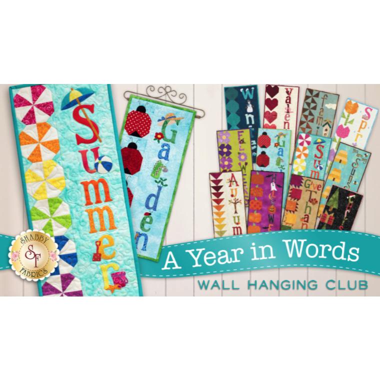 A Year In Words Wall Hanging Club - Laser Cut