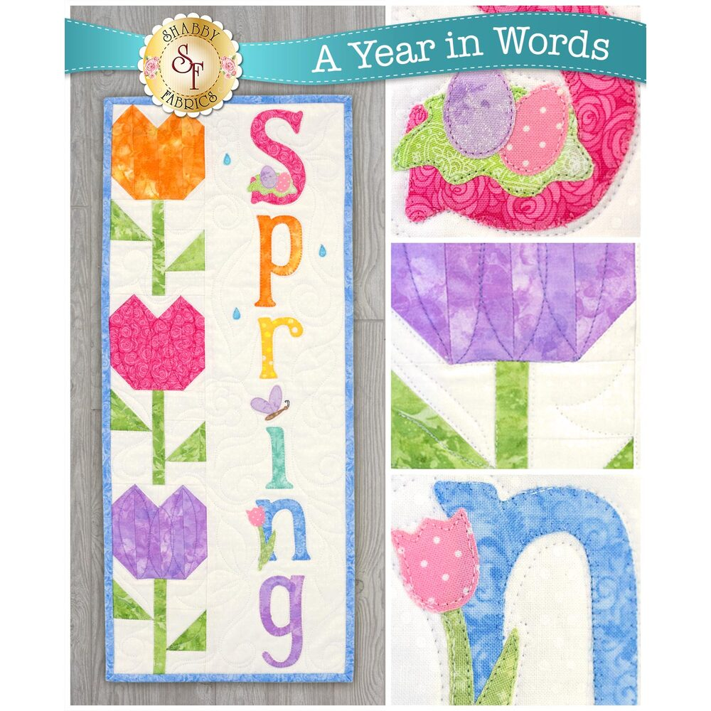 A Year In Words Wall Hangings - Spring - April available at Shabby Fabrics