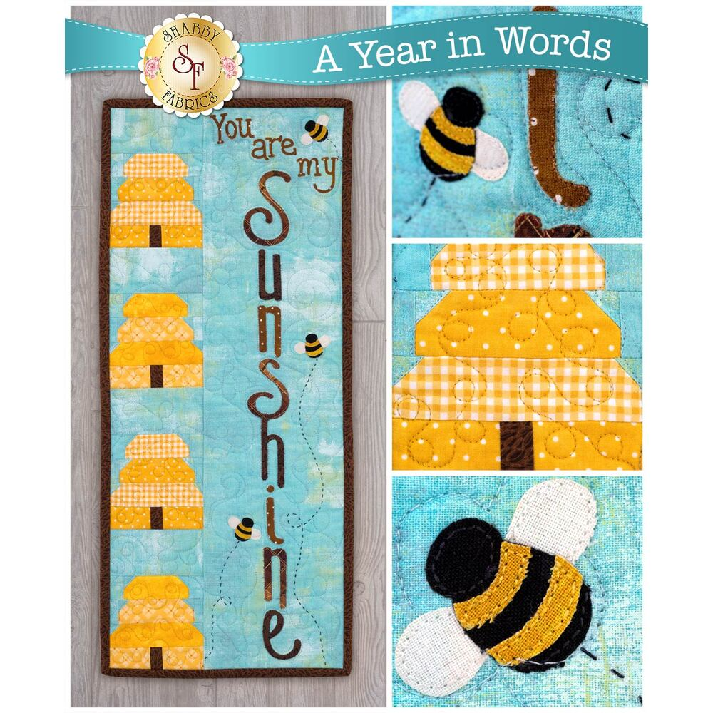 A Year In Words Wall Hangings - Sunshine - August - Kit