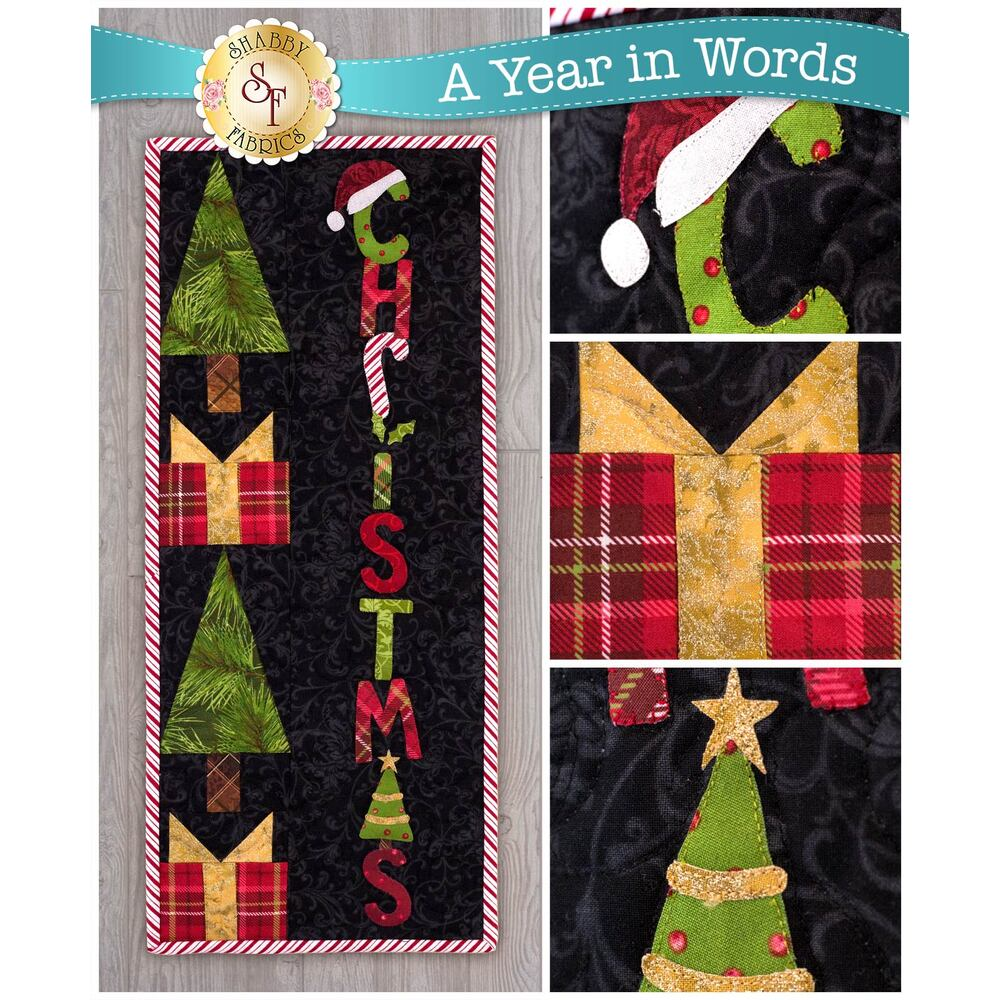 A Year In Words Wall Hanging Kit - Christmas (December) from Shabby Fabrics