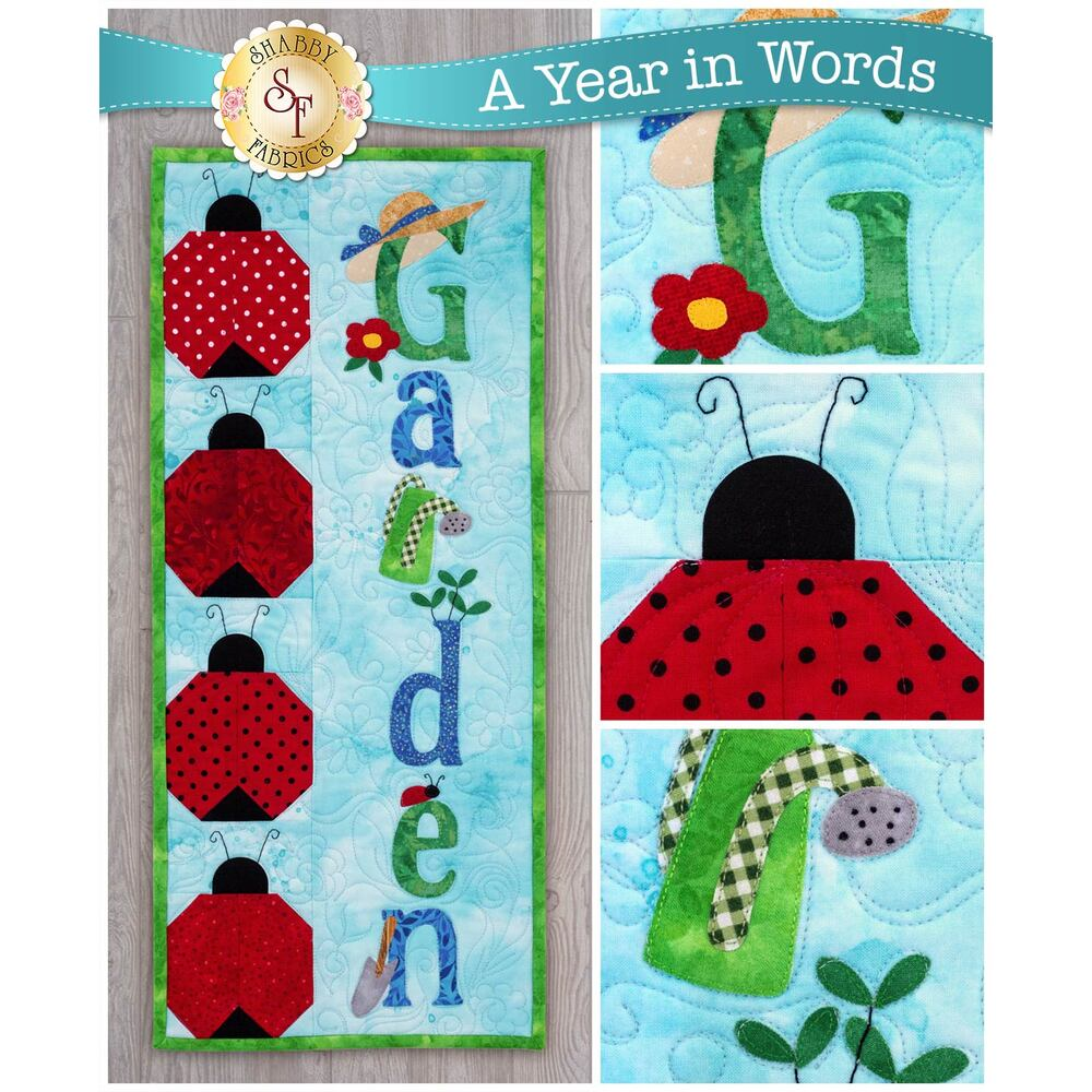 A Year In Words Wall Hanging Garden - June Pattern