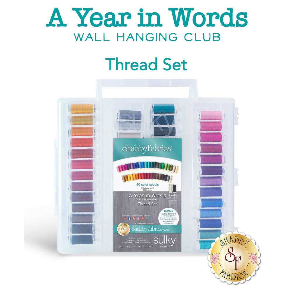 A Year In Words Wall Hanging Club - 42pc Thread Set