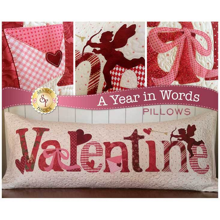 from Shabby Fabrics NEW VALENTINES FEBRUARY TABLE RUNNER QUILTING PATTERN