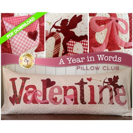 A Year in Words Pillows - Valentine - February - PDF Download