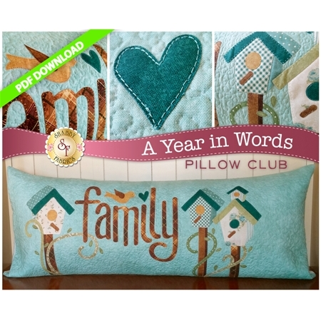 A Year in Words Pillows - Family - March - PDF Download