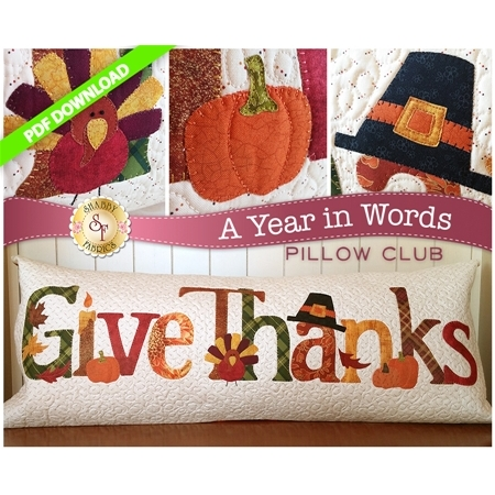 A Year in Words Pillows - Give Thanks - November - PDF Download