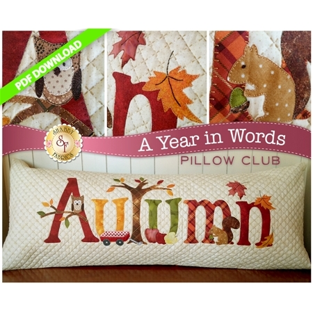 A Year in Words Pillows - Autumn - September - PDF Download