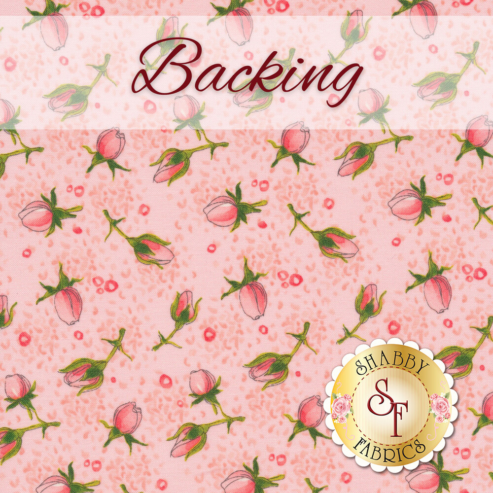 Easy As ABC and 123 Quilt and Pillow Kit - Abby Rose - Pink & Orange - Backing - 3¾