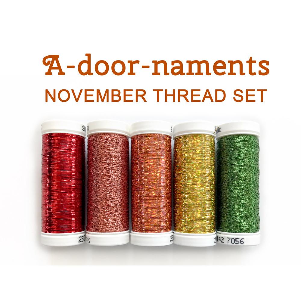 A-door-naments Pumpkins (October) Thread Set - 6 pc from Sulky