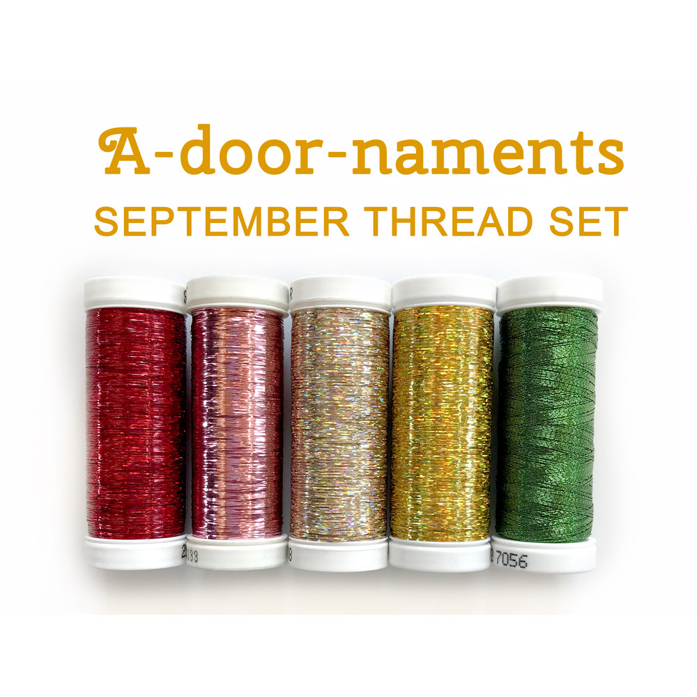 A-door-naments Apples (September) Thread Set - 5 pc from Sulky